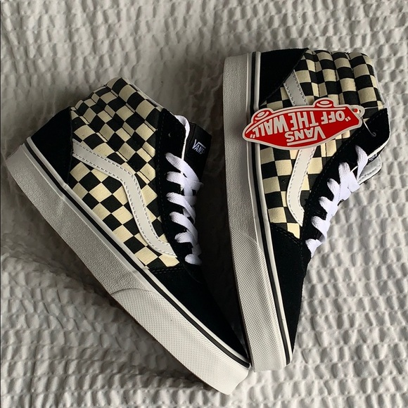 NEW ⭐️ Vans Checkerboard Ward Hi- size 7